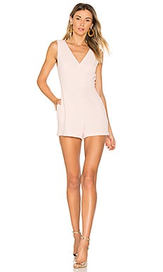 Simple V Romper in Rose Smoke