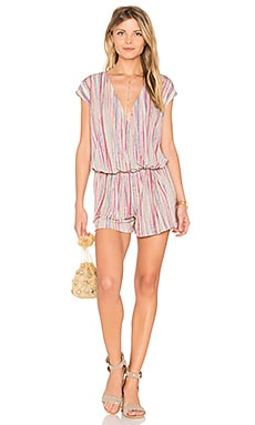 Slit Back Romper in Multi