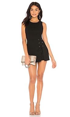 COMBISHORT LACE UP SKIRT OVERLAY BCBGeneration $49