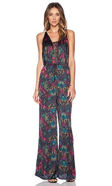 BCBGeneration Lace Insert Jumpsuit in Veridan Combo