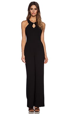 BCBGeneration Draped Front Jumpsuit in Black