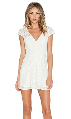 BCBGeneration Cap Sleeve Pleated Short Romper in Optic White