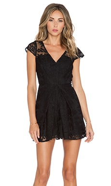 BCBGeneration Cap Sleeve Pleated Short Romper in Black