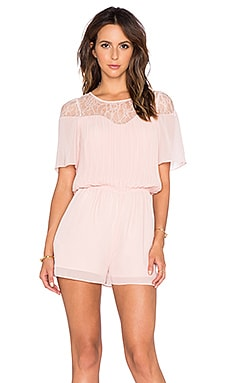BCBGeneration Lace Romper in Rose Smoke