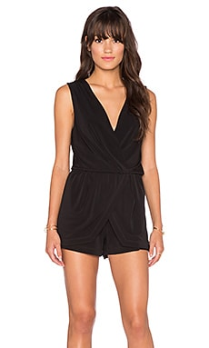 BCBGeneration Surplice Skort Romper in Black