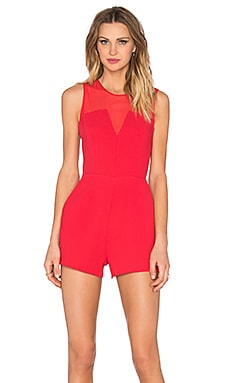 Sweetheart Romper in Cardinal