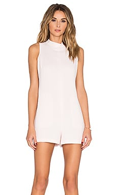 BCBGeneration Mock Neck Romper in Pink Dove