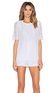 BCBGeneration Trapeze Romper in Optic White