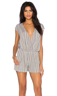 Cross Front Romper in Canyon Clay