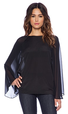 BCBGeneration Bell Sleeve Top in Black