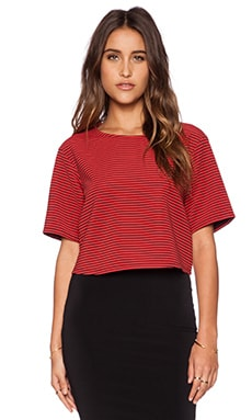 BCBGeneration Knit Crop Top in Passion