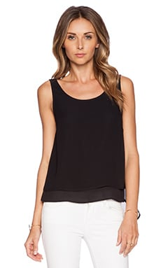 BCBGeneration Woven Tank in Black