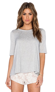 BCBGeneration Open Back Top in Heather Grey