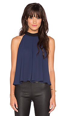 BCBGeneration Bow Back Halter Top in Deep Blue