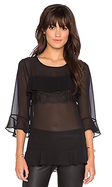 BCBGeneration Multi Tiered Top in Black