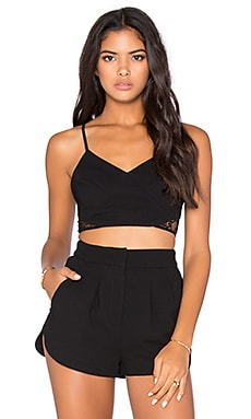 BCBGeneration Lace Crop Top in Black