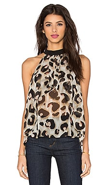 Animal Print Top en Dusty Olive Combo