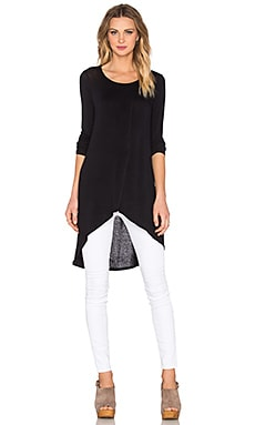 Long Layered Top in Black