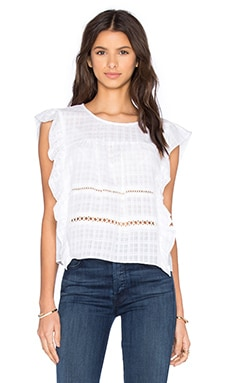 Ruffle Tank in Optic White