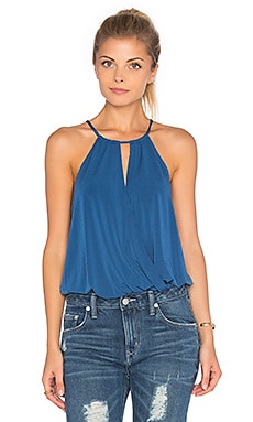 BCBGeneration Halter V Neck Bodysuit in Splash