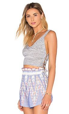 BCBGeneration Crop Top in Blue Combo