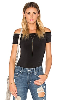 BCBGeneration Off the Shoulder Bodysuit in Black