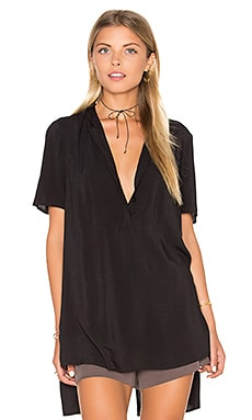 BCBGeneration Hi Lo Top in Black