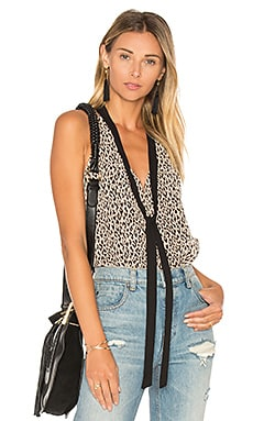 Tied Neck Tank in Black Combo