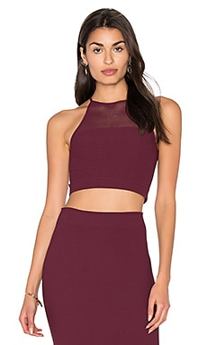 Racer Back Crop Tank in Bordeaux
