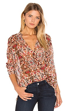 Surplice Blouse in Coffeebean Multi