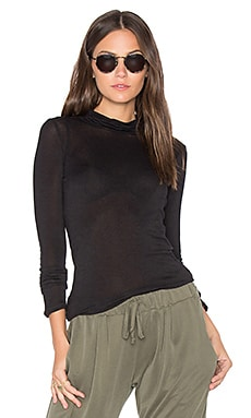 Turtleneck Tee in Schwarz
