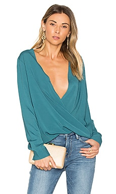 Criss Cross Blouse in Cerulean