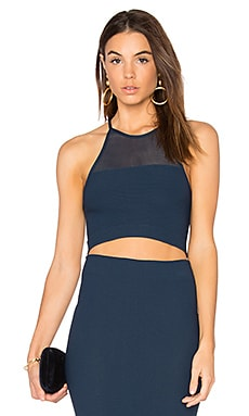 Mesh Crop Tank in Dark Navy