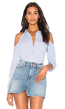 Cold Shoulder Button Up