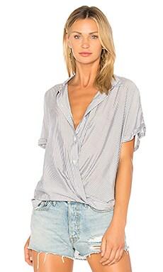 Wrap Hem Dolman Shirt