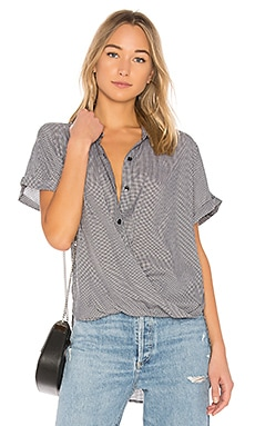 Wrap Hem Button Up