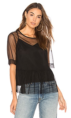 Mesh Boyfriend Sleeve Top