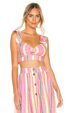 Flutter Sleeve Crop Top BCBGeneration $41