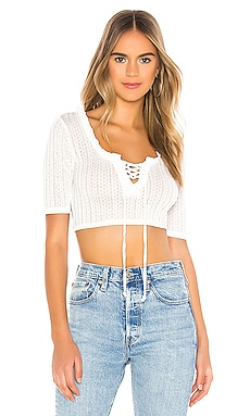 Lace Up Short Sleeve Top BCBGeneration $68 NEW ARRIVAL