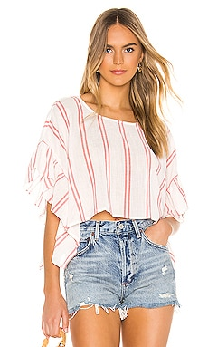 Rectangle Ruffle Sleeve Top BCBGeneration $78 BEST SELLER