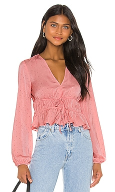 Tie Front Long Sleeve Top BCBGeneration $88 NEW ARRIVAL