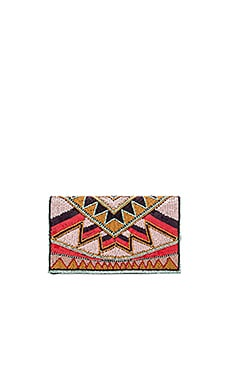 BCBGeneration Tribal Beaded Clutch in Multi