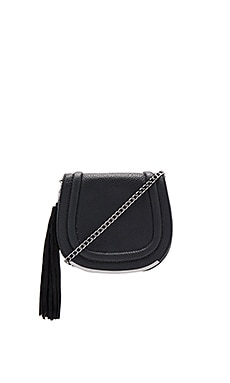 Tassel Saddle Bag in Schwarz