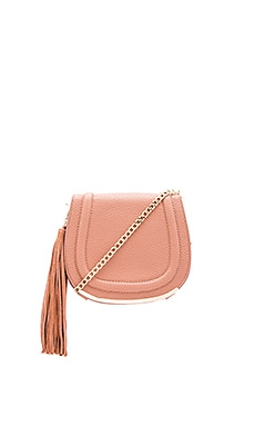 BCBGeneration Tassel Saddle Bag in Blush
