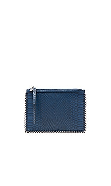 Chain Edge Clutch in Blue