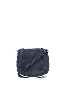 Suede Saddle Bag in Navy