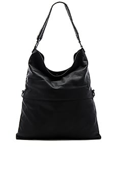 Messenger Shoulder Bag in Schwarz