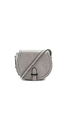 Crackle Pebble Saddle Bag in White