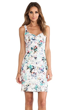 Jace Sheath Mini Dress en Imprimé Fleurs Vintage