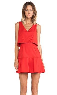 Black Halo Shawna Mini Dress in Lust